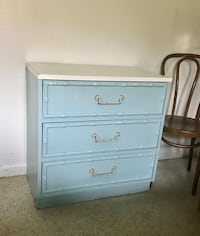 Vintage Powder Blue Faux Bamboo Chest of Drawers Fort Lauderdale, 33315