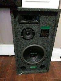 black and gray subwoofer speaker Kitchener, N2H 4T6