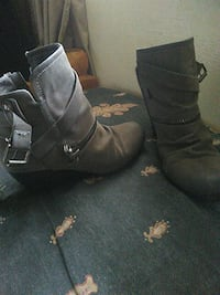 pair of gray suede ankle boots St. Louis, 63125