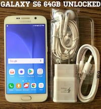 Galaxy S6 UNLOCKED 64GB w/ Accessories  Arlington