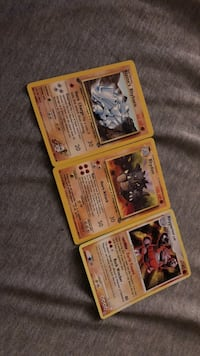 four assorted Pokemon trading cards Creve Coeur, 63141