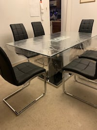 Glass Table With 6 Chairs Rockville, 20850