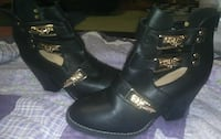 Ankle high buckle boots