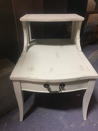 Vintage Step Table Chalked and Waxed Westminster, 21158