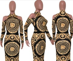 ladies Versace style dress