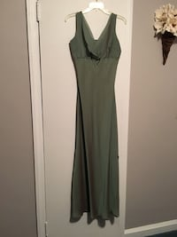 Sage colored lined dress/gown. Size 10