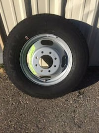 dually tire and rim NEW PRICE IS FIRM