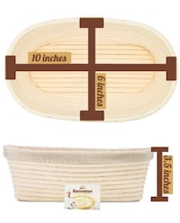 Brand new 10 Inch Oval Banneton Proofing Basket (pick up only) Alexandria, 22310