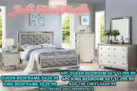 Beautiful silver bedroom set available in two different sizes DM us for more information  Bakersfield, 93306