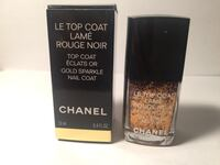 CHANEL limited ed gold sparkle nail polish