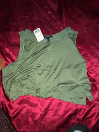 Forever 21 olive side lace up crop top  Richmond Hill, L4B 3T7