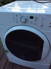 White front-load clothes dryer Brentwood Bay, V8M 1C2