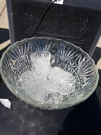 Crystal punch bowl and cup set Edmonton, T5A 3A4