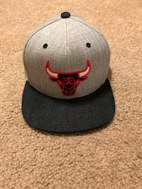 Gray and black Chicago Bulls snapback cap Highland Heights, 44143