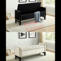 Black wooden bed frame with white mattress Toronto, M6N 3G1