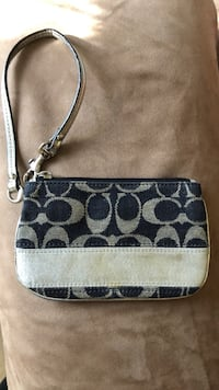 Coach Wristlet Denim and Silver Herndon, 20170