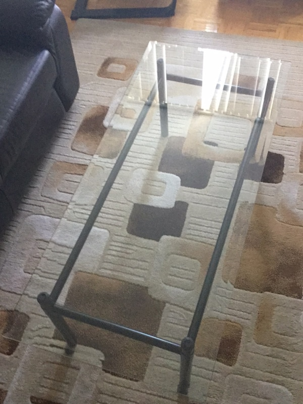 Large Glass Top Coffee Table 0