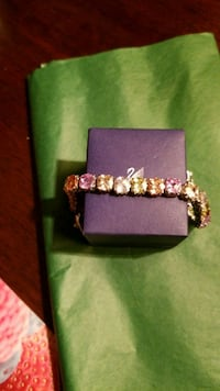 silver-colored  multicolored bracelet 776 km