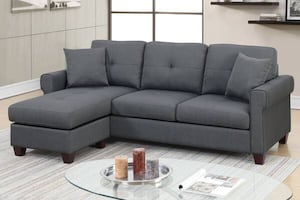 New Reversible Sectional. Grey. Delivery / Assembly included.