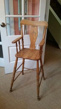 brown wooden windsor rocking chair Morin-Heights