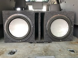 """2 12"""" Rockford Fostgate Punch Series Subwoofers in SubBox"""