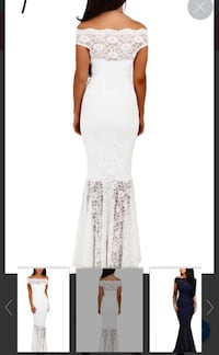 Women's white strapless dress. Small for a tall girl.. NEW Toronto, M6M