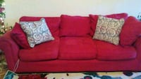 red fabric 2-seat sofa Stillwater, 74075