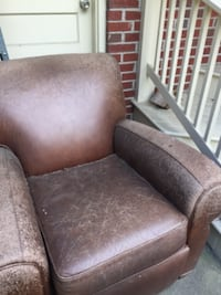 Club chair recliner-reupholstering project ARLINGTON