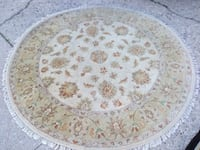 round white and brown floral area rug Skokie, 60076