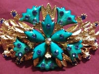 1940s Turquoise and gold hair pin  Fairbanks, 99709