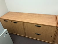 brown wooden 2-drawer chest Calgary, T3H