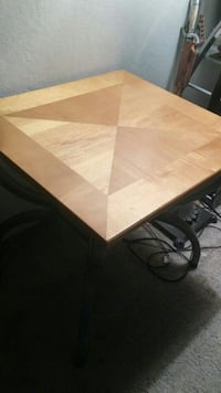 Light Brown Wooden Coffee Table.