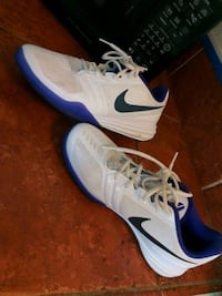 pair of white-and-blue Nike sneakers Bakersfield, 93301