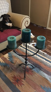 Heavy rod iron candle stand 1304 mi