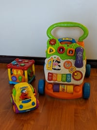 Vtech Baby Walker, Activity Cube and Elmo Car Vancouver