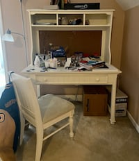 Girls off white Desk and Chair