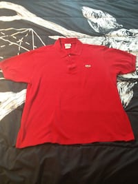 Red Lacost Polo - Medium (5) null
