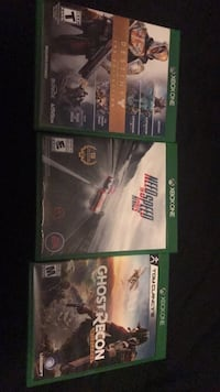 three Xbox One game cases Bath, 18014