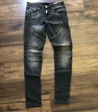 Represent Men's Distressed Black Biker Jeans Edmonton, T6H