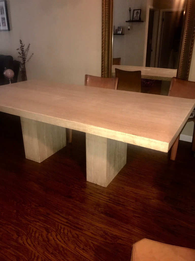 Maurice Villency Limestone Dining Table