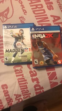 Nba 2k15 and madden nfl 15 ps4 game case Phoenix, 85051