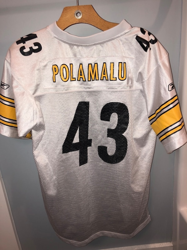 brand new fcbc5 dff14 Troy Polamalu White stellers jersey youth large 9/10 condition