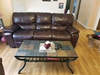 leather sofa, 2 end recliners and coffee tabke Freehold, 07728