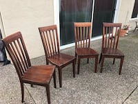 four brown wooden windsor chairs Richmond, 94803