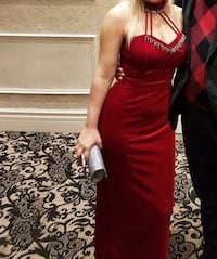 Women's velvet red sleeveless dress for wedding or prom  Toronto, M6M