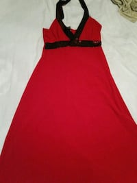 red and black sleeveless dress Brampton, L6X 1E5