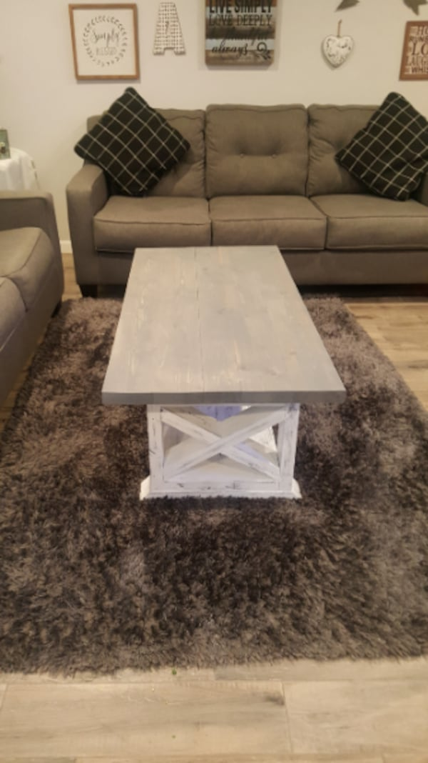 Farmhouse Custom Coffee Table Country Style Staine 4