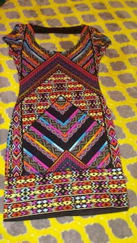 red, yellow, and blue tribal print area rug Houston, 77083