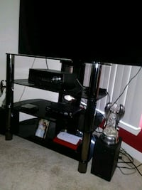 black TV stand  Charter Township of Clinton