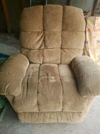 brown suede recliner sofa chair Crestwood, 60445